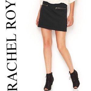 EUC Rachel Roy black zip pocket mini skirt size 4